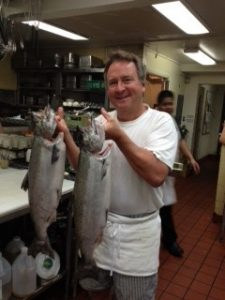 Jim with Salmon