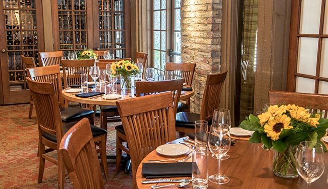 Patio room for private parties and group events in Boulder, Colorado